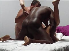 Mature woman with great body fucking a bbc, hubby helps