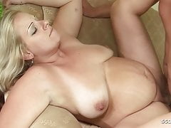 Pregnant Saggy Tits Mature Monika Seduce to Fuck by Younger
