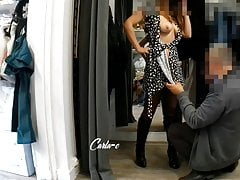CARLA-C: EXHIBITIONISM AT THE COUTURIER'S, PART 3