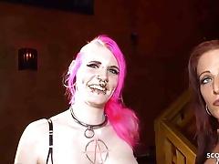 Lactating Tits Teen Sex - German No Condom Creampie Gangbang